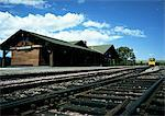 Railway station at Glacier National Park, Montana, United States Stock Photo - Premium Royalty-Free, Artist: Pete Webb, Code: 696-03396268