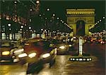 France, Paris, Arc de Triomphe at night Stock Photo - Premium Royalty-Freenull, Code: 696-03396347
