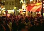 France, Paris, people in street at night, blurred Stock Photo - Premium Royalty-Free, Artist: Jon Arnold Images, Code: 696-03396428