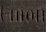 My typography in French engraved in stone. Stock Photo - Premium Royalty-Freenull, Code: 696-03396469