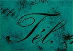 Tel. typography in cursive on green background. Stock Photo - Premium Royalty-Freenull, Code: 696-03396470