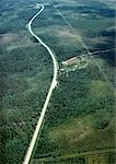 Sweden, road through forest landscape, aerial view Stock Photo - Premium Royalty-Freenull, Code: 696-03397135