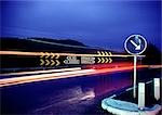 Road with light trails at night Stock Photo - Premium Royalty-Freenull, Code: 696-03397183