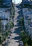 California, San Francisco, steep city street with cars lining road Stock Photo - Premium Royalty-Freenull, Code: 696-03397533