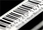 Barcode, extreme close-up
