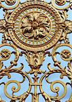 Ornate gold gate, close up Stock Photo - Premium Royalty-Free, Artist: Lloyd Sutton, Code: 696-03398227