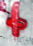 Cross painted on wall, blurred Stock Photo - Premium Royalty-Free, Artist: IIC, Code: 696-03398813