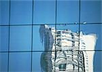 Building reflected in window panes Stock Photo - Premium Royalty-Freenull, Code: 696-03399108