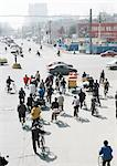 China, Beijing, bicycle traffic stopped at intersection Stock Photo - Premium Royalty-Free, Artist: Raimund Linke            , Code: 696-03399273