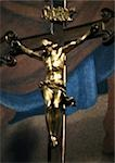 Gilded crucifixion statue