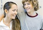 Teen couple, smiling Stock Photo - Premium Royalty-Freenull, Code: 696-03400741