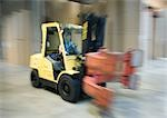 Forklift in paper mill Stock Photo - Premium Royalty-Free, Artist: Photocuisine, Code: 696-03400936