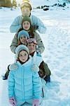 Young friends in snow, portrait Stock Photo - Premium Royalty-Free, Artist: Uwe Umsttter, Code: 696-03401678