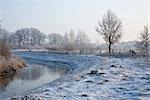 River and Field in Winter, Diepholz, Lower Saxony, Germany Stock Photo - Premium Rights-Managed, Artist: Elke Esser, Code: 700-03403753