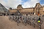 Bicycles at the Louvre, Paris, France Stock Photo - Premium Rights-Managed, Artist: Damir Frkovic, Code: 700-03403771