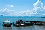 Docked Fishing Boats, Ko Samui, Thailand Stock Photo - Premium Rights-Managed, Artist: Frank Rossbach, Code: 700-03403925