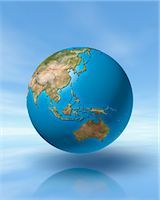 World Globe, Showing Pacific Rim Stock Photo - Premium Rights-Managednull, Code: 700-03404163