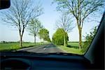 View of Road from Passenger's Seat, Bergheim, Bavaria, Germany Stock Photo - Premium Rights-Managed, Artist: Elke Esser, Code: 700-03404290