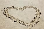 Heart Drawn in Sand Stock Photo - Premium Royalty-Free, Artist: Elke Esser, Code: 600-03404349