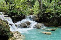 southeast asian - Tat Kuang Si Waterfall, Luang Prabang, Louangphabang Province, Laos Stock Photo - Premium Royalty-Freenull, Code: 600-03404693