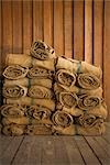 Stacks of Burlap Sacks Stock Photo - Premium Rights-Managed, Artist: dk & dennie cody, Code: 700-03405572