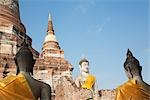 Budda Statues at Wat Yai Chai Mongkhon Temple in Ayutthaya, the old capital of Thailand Stock Photo - Premium Rights-Managed, Artist: dk & dennie cody, Code: 700-03405602
