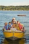 men and young children on motorboat ride Stock Photo - Premium Royalty-Free, Artist: Jerzyworks, Code: 673-03405799