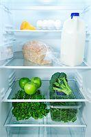 fridge - Fridge with Healthy Food Stock Photo - Premium Royalty-Freenull, Code: 600-03406349