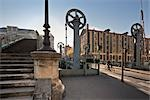 Drawbridge Over the Canal de l'Ourcq, Paris, Ile-de-France, France