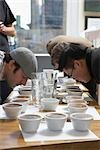 Baristas Tasting Espresso Stock Photo - Premium Rights-Managed, Artist: Michael Mahovlich, Code: 700-03406539