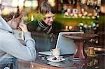 Two men talking in a cafe Stock Photo - Premium Rights-Managed, Artist: ableimages, Code: 822-03406934