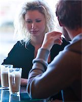 sad lovers break up - Close up of a young couple sitting in a cafe talking Stock Photo - Premium Rights-Managednull, Code: 822-03407019