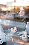 Two men talking in a cafe Stock Photo - Premium Rights-Managed, Artist: ableimages, Code: 822-03407038