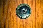 Close-up of Spyhole on Door Stock Photo - Premium Rights-Managed, Artist: Matt Brasier, Code: 700-03407265