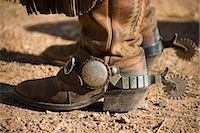 Cowboy Boots and Spurs Stock Photo - Premium Royalty-Freenull, Code: 600-03407395