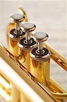 Close-up of Trumpet Valves Stock Photo - Premium Royalty-Freenull, Code: 600-03407540