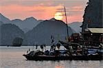 Sunset over Halong Bay, Vietnam Stock Photo - Premium Rights-Managed, Artist: Jochen Schlenker, Code: 700-03407676
