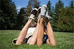Teenage Couple Lying in Grass Stock Photo - Premium Rights-Managed, Artist: Ty Milford, Code: 700-03407878