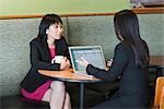 Businesswomen Meeting in Cafe Stock Photo - Premium Rights-Managed, Artist: Kevin Dodge, Code: 700-03407932