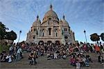 La Basilique du Sacre Coeur Steps, Paris, Ile-de-France, France