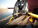 Man Working at Shipyard Stock Photo - Premium Rights-Managed, Artist: Brian Kuhlmann, Code: 700-03408089