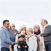 3 generations outdoors Stock Photo - Premium Royalty-Freenull, Code: 649-03417606