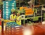 Factory Workers On Factory Floor Stock Photo - Premium Royalty-Free, Artist: Peter Christopher, Code: 649-03418249