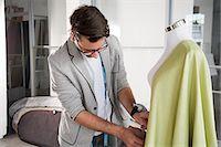 Fashion designer at work Stock Photo - Premium Royalty-Freenull, Code: 614-03420147