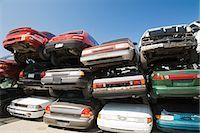 Cars at scrap yard Stock Photo - Premium Royalty-Freenull, Code: 614-03420288