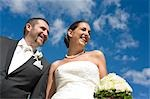 Portrait of Bride and Groom, Salzburg, Salzburger Land, Austria Stock Photo - Premium Rights-Managed, Artist: Bettina Salomon, Code: 700-03435240
