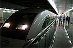 China,Shanghai. Maglev Train in Shanghai Pudong Airport Stock Photo - Premium Rights-Managed, Artist: AWL Images, Code: 862-03436999
