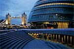 England,London. City Hall designed by architect Norman Foster with Tower Bridge in the background. Stock Photo - Premium Rights-Managed, Artist: AWL Images, Code: 862-03437057