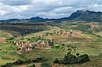 Betsileo villages set amidst hill country in the southern highlands of Madagascar. Stock Photo - Premium Rights-Managed, Artist: AWL Images, Code: 862-03437223