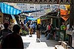Mozambique,Maputo. The Central Market,commonly known as Mercardo Central,is on Avenida 25 de Abril in downtown Maputo. The market is a good place to buy a variety of fresh and frozen fish aswell as vegetables,fruit,carvings,and baskets. It is the prettiest market in Maputo and the building itself is impressive dating to 1901. Stock Photo - Premium Rights-Managed, Artist: AWL Images, Code: 862-03437266